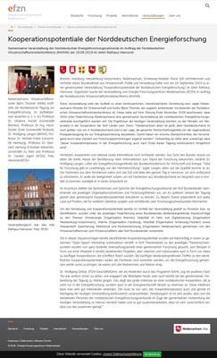 Kooperationspotentiale der Norddeutschen Energieforschung
