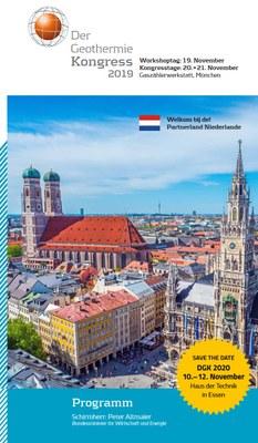 Programm Geothermiekongress 2019